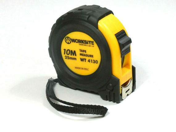 "Worksite Tape Measure with Auto Locking 1""X32 FT (10mx25mm) Adjustable,Retractable, Belt Clip, Compact, HD, Measure Metric & Standard WT4130"
