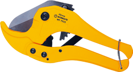 Worksite Heavy Duty PVC Pipe Cutter with Metal Handle, Cuts plastic, vinyl and rubber tubing up to 1-5/8 inch(42mm) OD, Features Safety Catch Protection, Rust-Resistant Finish for Protection Against the Harshest Weather Elements. - WT7022