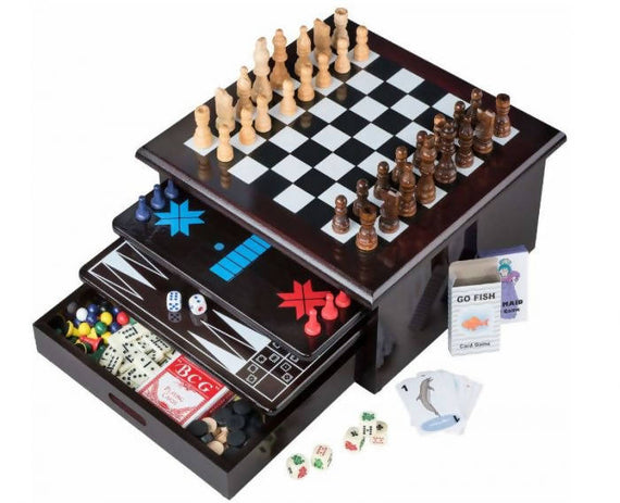 Cardinal Game Central 15 in 1 Looking for the best board games for kids designed to thrill them for hours. Then this Deluxe 15 in 1 Tabletop Wood-accented Game Center is just what you need -9716551