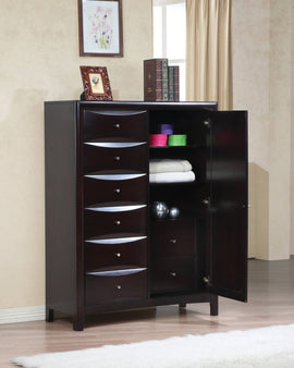 Phoenix 6-Drawer Man's Chest Deep Cappuccino - 200420