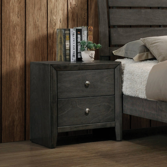 Serenity 2-Drawer Nightstand Mod Grey - 215842