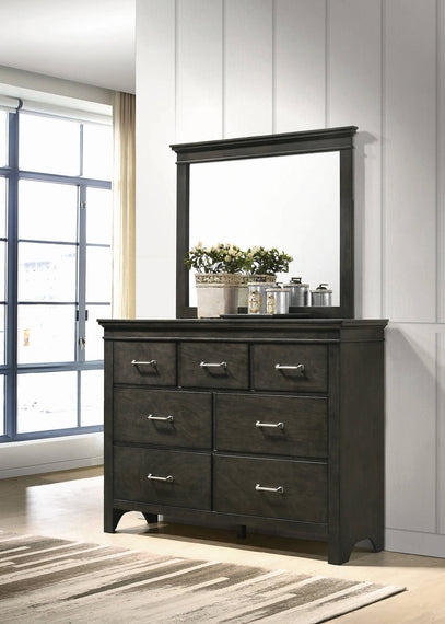 Newberry Dresser Mirror Bark Wood - 205434