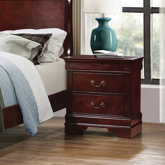 Louis Philippe 2-Drawer Nightstand Cherry - 222412