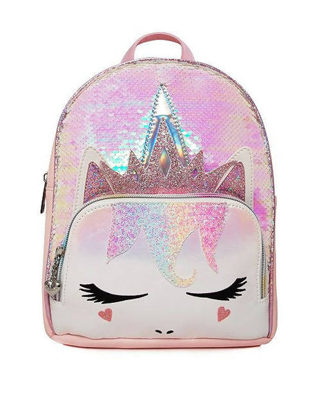 Omg Accessories Mini Backpacks Shine wherever you go with the Queen Gwen Sequins Pink Mini Backpack-391166