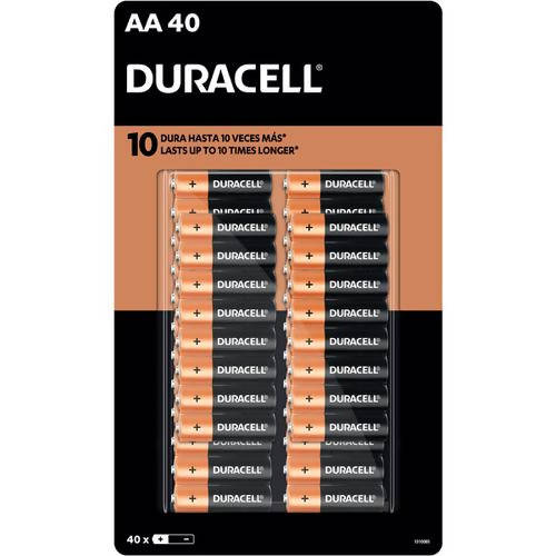Duracell AA Alkaline Batteries (40 Units) - Duracell alkaline batteries are designed and developed for long lasting performance - 19127