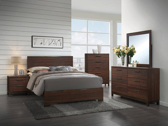 Edmonton California King Panel Bed Rustic Tobacco - 204351KW