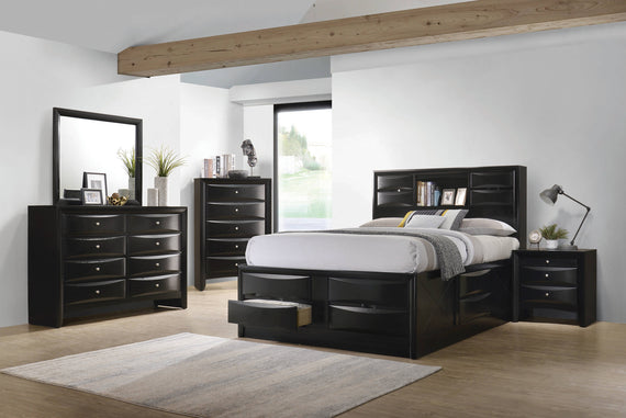 Briana Eastern King Platform Storage Bed Black - 202701KE