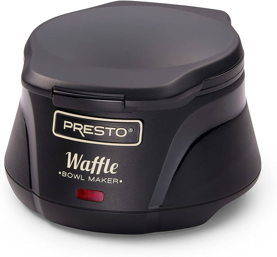 Presto Waffle Bowl Maker is easy to use, just pour in your favorite waffle batter, close the cover, and bake a perfect 4-inch waffle bowl - 3500