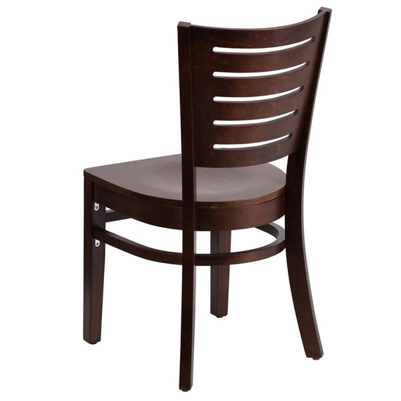 Darby Series Slat Back Walnut Wood Restaurant Chair [XU-DG-W0108-WAL-WAL-GG]