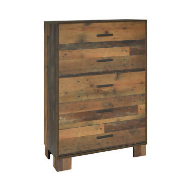 Sidney 5-Drawer Chest Rustic Pine - 223145