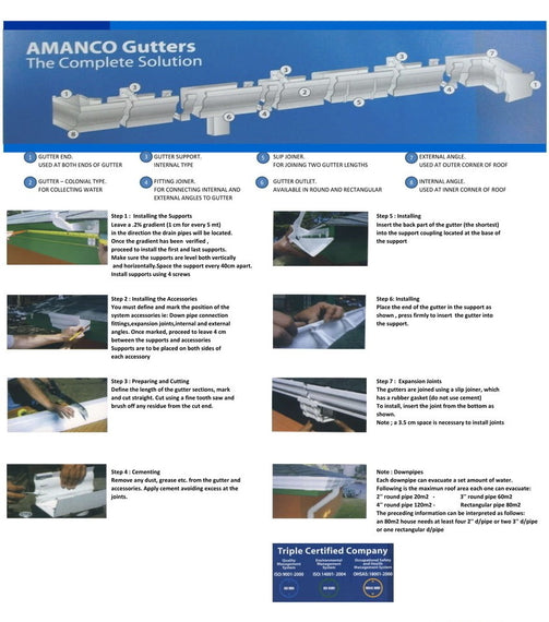 "AMANCO Gutter Outlet 3"" - 352509"