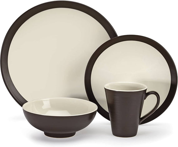 Cuisinart Stoneware Bailee Collection 16 Piece Dinnerware Set - CU-CDST1-S4CDB