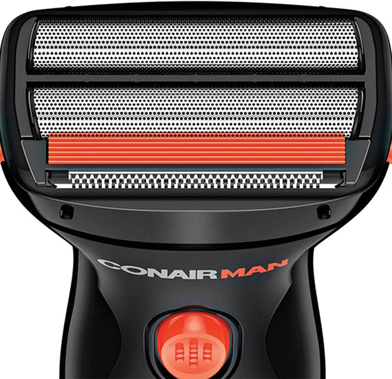 ConairMAN Wet/Dry Travel Shaver features twin foil blades for a close, comfortable shave when you're on the go. The flexible head will contour to your face for a clean, smooth shave - C-SHV22R