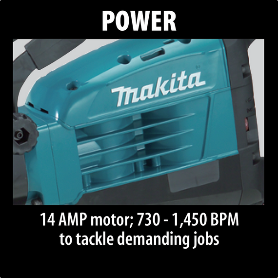 "Makita 35 lb Demolition Hammer accepts 1‑1/8"" Hex bits - HM1307CB"