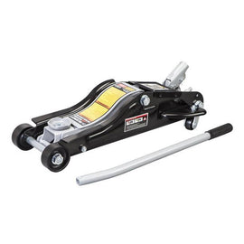 "Black Jack Low Profile Jack 3 Ton Black Jack 2.5 Ton Low Profile Floor Jack. Color Box Package. Lifting Range: 3-1/2"" to 14-1/8"" The Torin 2-1/2 Ton Trolley Jack is a must-have accessory for all automobile owners-401701"