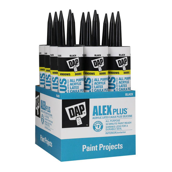 DAP ALEX PLUS ALL PURPOSE ACRYLIC  LATEX CAULK PLUS SILICONE - 10.1 OZ