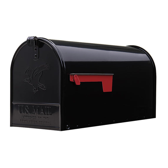 Gibraltar Industries Vintage Series Elite Steel Black Mailbox Ideal for small parcels and large mail deliveries.The powder-coated finish ensures that the mailbox will enjoy a long service life - E1100B00