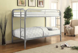 Morgan Twin Over Twin Bunk Bed Silver - 2256V