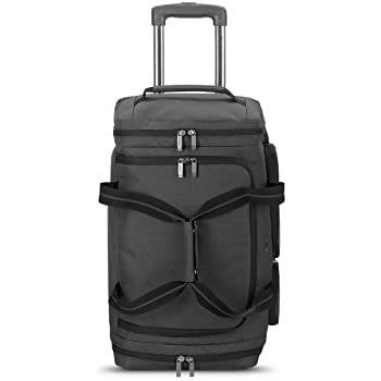 Solo New York Rolling Duffle Bag 24'' Capable of fitting 49 liters of storage, this duffel will hold everything you need for a weekend getaway.Keep your valuables safe when traveling-5113