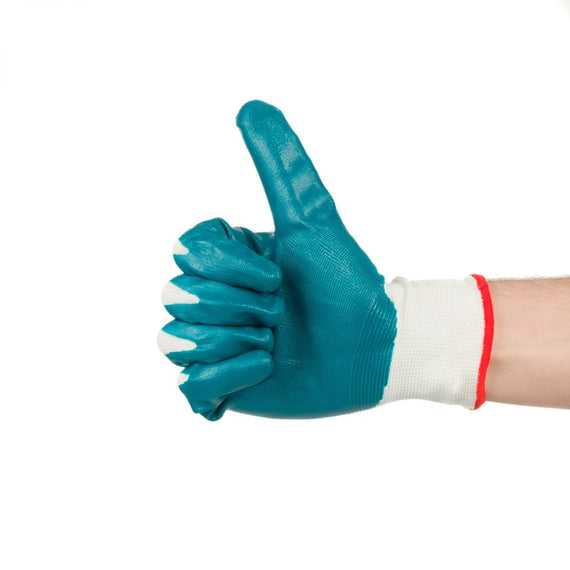 Total Nit-rile Gloves Used in applications which require a high degree of dexterity and sensitivity, especially where grips important, such as handling small oily parts and components-TSP12101