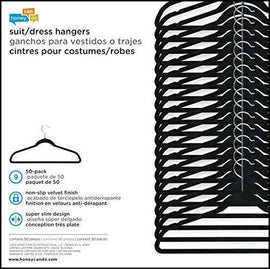 Honey Can Do Flockers Hangers 50 pk-3225
