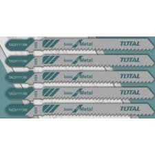 Total 5 Piece Jig Saw Metal Blade Set - T Shank Metal Blades For Fast And Straight Cuts. Ideal For Medium-Thick Sheet Metal - 12 TPI, 50mm Teeth Length,  HSS Blades - TAC51118B