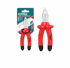 "Total 8"" (200mm) Insulated Pliers with Chrome Vanadium Steel Body, 1000V, VDE Tested. Ideal for Hard and Soft Wire, Electric Cables, Electricians, DIY projects and More - THTIP181"