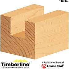 Timberline Carbide Tipped 1/2' Shank - Straight Plunge Router Bit. Ideal for Carpenters, Carpentry Workshops, Woodworking DIYers and More-110-26