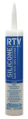 WHITE LIGHTNING RTV ALL PURPOSE  SILICONE SEALANT, CLEAR, 10 OZ. - WL099110C