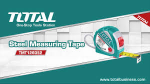 Total Heavy Duty Steel Measuring Tape 5m x 25mm (16ft), Nylon Wrap Rigid Steel Blade, Double Sides Yellow and Black Colour Scale, Sturdy Shock Absorbent ABS Rubber Case - TMT126052