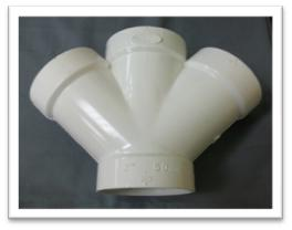 PVC DWV Double Cross WYE
