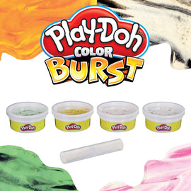 Play-Doh Color Burst Ice Cream Themed Pack of 4 Colors, 2 Oz Cans - 630509860975