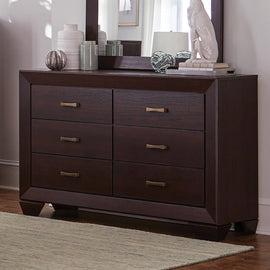 Kauffman 6-Drawer Dresser Dark Cocoa - 204393