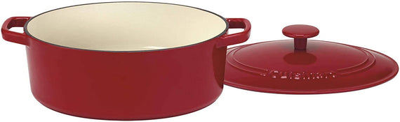 Cuisinart Chef's Classic Enameled Cast Iron 5.5 Quart Oval Covered Casserole (Cardinal Red) - CU-CI755-30CR
