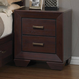 Kauffman 2-Drawer Nightstand Dark Cocoa - 204392