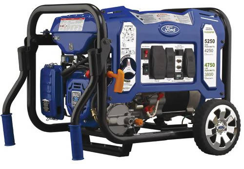 Ford 5,250 Watts M-Frame Dual Fuel Portable Generator with Switch & Go Technology - When you need the convenience of portability and the power to perform, the Ford back-up generator is a strong candidate for satisfying your power needs - 355250