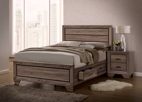 Kauffman California King Storage Bed Washed Taupe - 204190KW