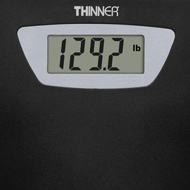 Conair Thinner Digital Precision LED Portable Bathroom Scale is a handy and portable digital weighing scale that boasts a thin and lightweight design that can easily be used in any room and stored when not in use - C-TH280