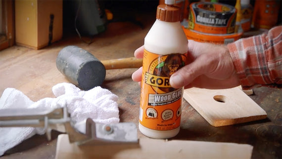 GORILLA Wood Glue with 3 Sizes 4 ounces, 8 ounces & 18 ounces for Wood Projects, Indoor & Outdoor, No Foaming
