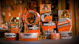 Gorilla Tape Black, Heavy Duty and Double Thick. Ideal for Indoor and Outdoor use and Made to Stick to Rough, Uneven, Unforgiving Surfaces like like Wood, Stone, Stucco, Plaster, Brick and More