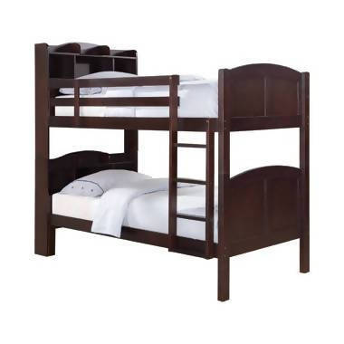 Parker Twin Over Twin Storage Bunk Bed Cappuccino - 460442
