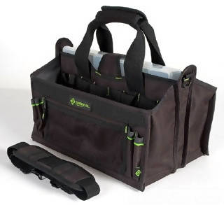 "Greenlee 16"" Tool Carrier With Parts Bin helps organize a wide variety of tools and accessories - 13388"