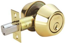 RAIDER Deadbolt Door Knob Lockset D102 Polished Brass (PB) for Office or Front Door