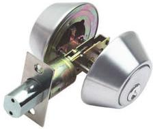RAIDER Deadbolt Door Knob Lockset D102 Satin Stainless Steel (SS) for Office or Front Door