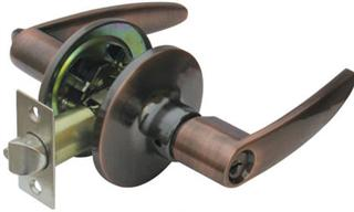 RAIDER Tubular Door Lever Lockset 6841 Antique Copper (AC) for Office or Front Door