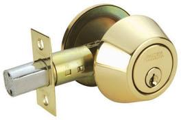 RAIDER Deadbolt Door Knob Lockset D101 Polished Brass (PB) for Office or Front Door
