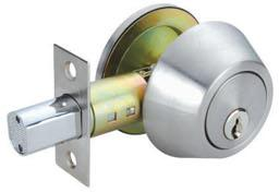 RAIDER Deadbolt Door Knob Lockset D101 Satin Stainless Steel (SS) for Office or Front Door