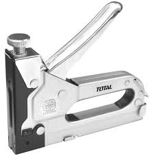 Total Heavy Duty Staple Gun 4 -14mm, Quick Jam Release, Adjustable Driving Force, Made of All Steel Construction. Ideal for Fabric, Wall, Wood, Crafts and D.I.Y. Projects - THT31141