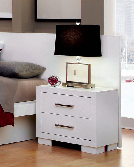 Jessica 2-Drawer Nightstand White - 202992