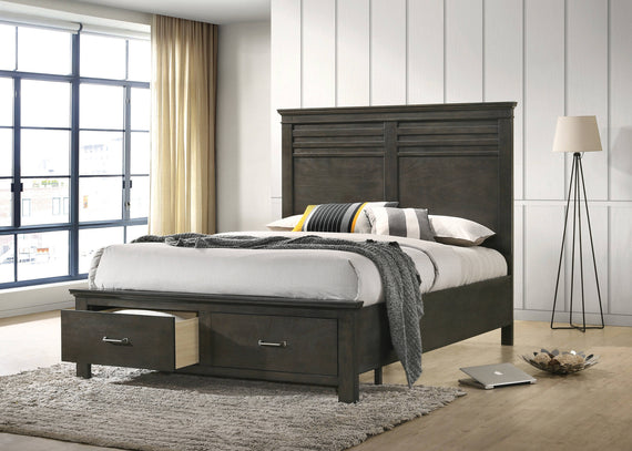 Newberry California King Storage Bed Bark Wood - 205430KW
